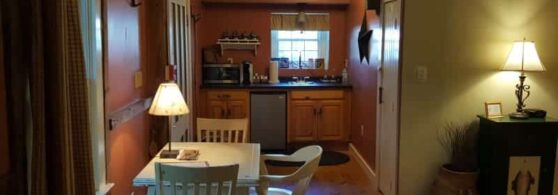 Birch Retreat kitchen and dining area
